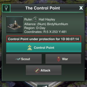 Control Point under protection