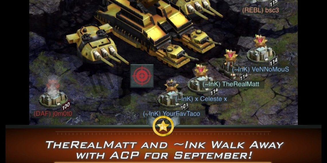 TheRealMatt and ~Ink Walk Away with ACP for September!
