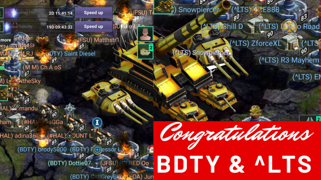 And the winners are: BDTY & ^LTS!