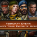 February Event: Who's Your Favorite Hero?