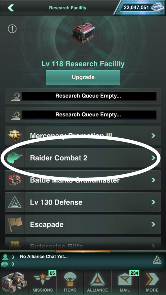 Raider Combat 2 Research Assists All Troop Types
