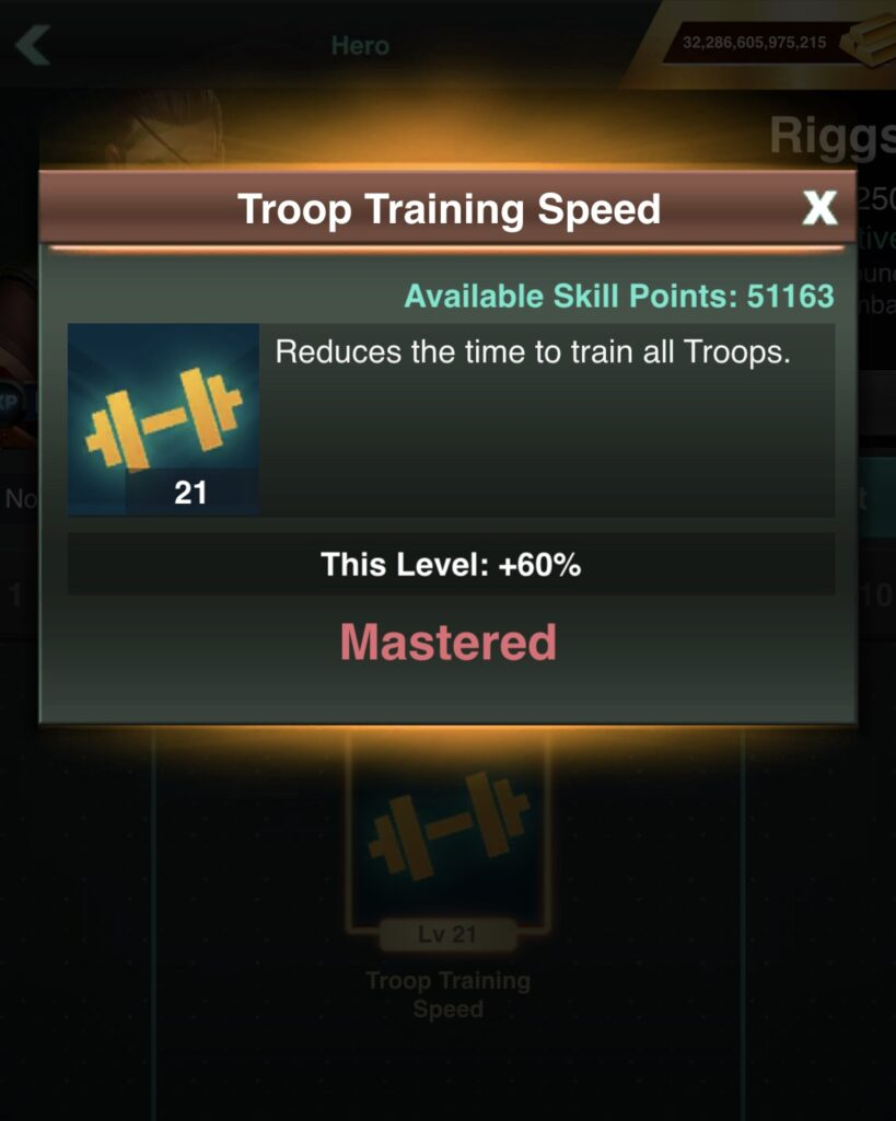 Riggs Training Time Cost Reduction
