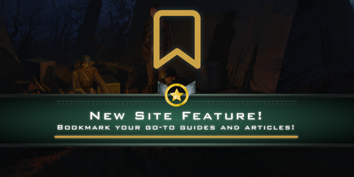 New Site Feature: Bookmarks!