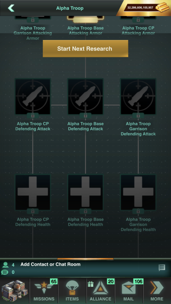 """Nodes with the word """"Alpha"""" Help specifically Alpha Troops ONLY"""